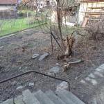 zahrada ze vstupního schodiště